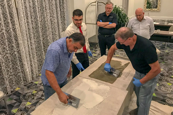 Presentation of Poraver as a lightweight aggregate  in tile adhesives