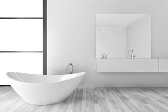 Foto eines Badezimmers, Mineral casting