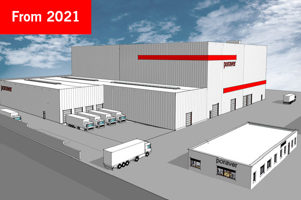 Picture of the new Poraver production plant in Schlüsselfeld