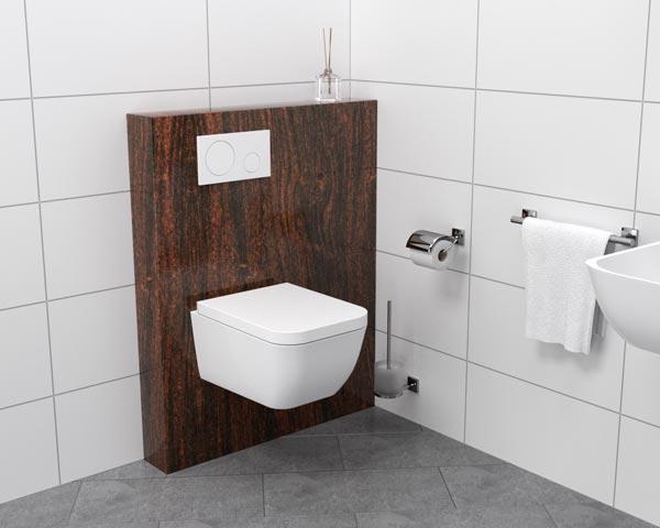 WC-Block Natursteinhaube braun